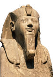 Ramses II d'isolement sur le blanc images stock