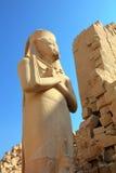 Ramses II - de farao van Egypte in tempel Karnak Stock Foto's