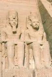 Ramses II in de tempel van abu simbel Royalty-vrije Stock Foto