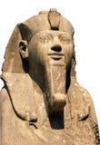 Ramses II die op wit wordt geïsoleerd stock afbeeldingen
