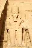 Ramses II in Egypt. The Ramses II temple in Abu Simbel, Egypt Royalty Free Stock Images
