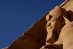 Ramses II et la lune Images stock