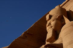 Ramses II and the moon Stock Images