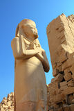 Ramses II - pharaoh dell'egitto in tempiale di Karnak Fotografie Stock