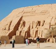 Ramses II Statuen bei Abu Simbel Lizenzfreies Stockbild