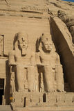 Ramses II statues Stock Photo