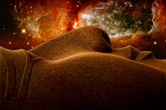Ramses II and Stellar region S106 (Elements of this image furnis Royalty Free Stock Images