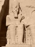 Ramses 2nd in Abu Simbel Royalty Free Stock Photo