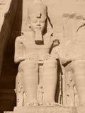 Ramses 2nd w Abu Simbel Zdjęcie Royalty Free