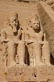 Ramses statues in Abu Simbel Royalty Free Stock Photos