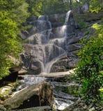Ramsey小瀑布,伟大的Smokey山国家公园 库存图片
