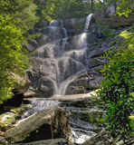 Ramsey Cascades, Groot Smokey Mountains National Park Stock Afbeelding