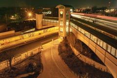 Ramsey, NJ/uni État-janv. 15, 2019 : Une vue de paysage de Ramsey Rt du transit de New Jersey Station 17 images stock
