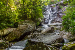 Ramsey's Cascades. Taken in The Smoky Mountains Stock Photo