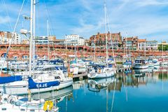Ramsgate's皇家港口小游艇船坞 免版税库存图片