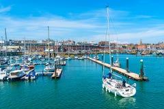 Ramsgate's schronienia Królewski Marina Zdjęcia Stock