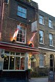 Ramsgate客栈, Wapping,伦敦城镇  库存图片