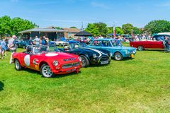 Ramsgate Bucket and Spade Classic Car Rally. RAMSGATE, KENT, UK - JUNE 03, 2018: People enjoy sunny day at the annual Ramsgate Bucket and Spade Classic Car Rally Stock Images