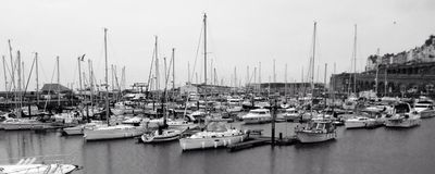 Ramsgate docks. A beautiful black and white picture of Ramsgate Stock Photography