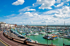 Ramsgate Harbor. Aerial view of the harbour of Ramsgate in Kent in England Stock Image