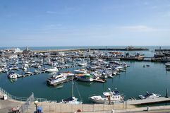 Ramsgate harbor. Ramsgate Boat Harbor, the yacht marina home to hundred or so ships and boats. Picture is ideal to show resort features Royalty Free Stock Images