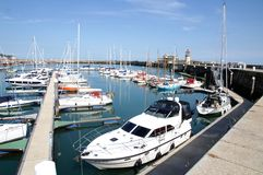 Ramsgate harbor and light house Stock Photo