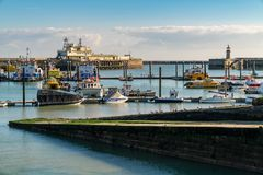 Ramsgate, Kent, England, UK. September 19, 2017: Boats in the Royal Harbour Marina Stock Photo