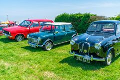 Ramsgate Bucket and Spade Classic Car Rally. RAMSGATE, KENT, UK - JUNE 03, 2018: The annual Ramsgate Bucket and Spade Classic Car Rally is organised by the Royalty Free Stock Images