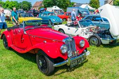 Ramsgate Bucket and Spade Classic Car Rally. RAMSGATE, KENT, UK - JUNE 03, 2018: People enjoy sunny day at the annual Ramsgate Bucket and Spade Classic Car Rally Royalty Free Stock Photography