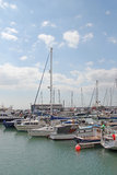 Ramsgate Mariner. This photo shows yachts at Ramsgate mariner.  This photo could be used for enthusiasts and to highlight the resort Royalty Free Stock Photography