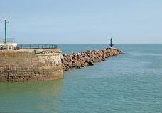 Ramsgate Pier End. This photo shows a view of the end of Ramsgate Pier Royalty Free Stock Photo