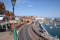 Ramsgate sea front. A picture of Ramsgate Sea Front in front of the harbor. Picture is ideal to show location features and attractions Stock Photo