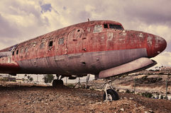 Ramshackle airplane Royalty Free Stock Images
