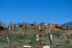 Ramshackle Graveyard Royalty Free Stock Photography