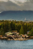 Ramshackle Maritime Salvage Businesses Near Ketchikan Stock Photo