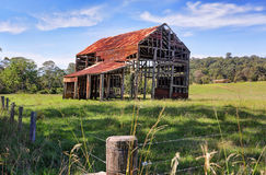 Ramshackle rustic glory- the old barn South Durras Benandarah Royalty Free Stock Images