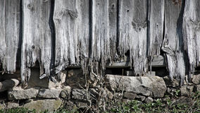 Ramshackled wooden wall of a barne Royalty Free Stock Photos