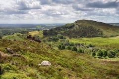 Ramshaw岩石在高峰区 免版税库存图片