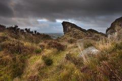 Ramshaw skał Szczytowy Gromadzki park narodowy Derbyshire zdjęcie royalty free