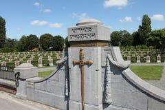 Ramskapelle Belgian First World War military cemetery. Ramskapelle Belgian military cemetery, near Ramskapelle in Belgium. The cemetery contains Belgian royalty free stock photography