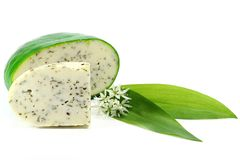 Ramson cheese Royalty Free Stock Images