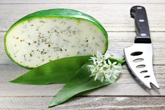 Ramson cheese Royalty Free Stock Photo