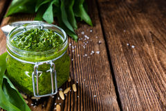 Ramson Pesto Stock Image