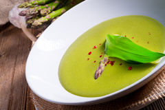 Ramsons Asparagus Soup Royalty Free Stock Image