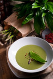Ramsons Asparagus Soup Royalty Free Stock Images
