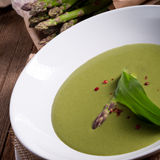 Ramsons Asparagus Soup Royalty Free Stock Photos