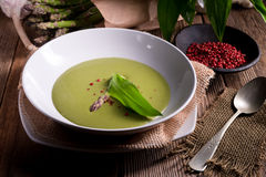 Ramsons Asparagus Soup Stock Photography