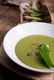 Ramsons asparagusa polewka Obraz Stock