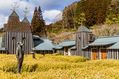 Ramune Onsen at Nagayu Hot Spring Resort. NAGAYU, OITA, JAPAN - FEBRUARY 12, 2017: Ramune Onsen offers carbonated hot spring baths in a fantasy-like traditional royalty free stock images