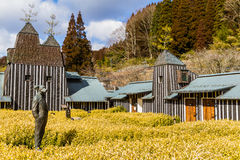 Ramune Onsen przy Nagayu Gorącej wiosny kurortem Obrazy Royalty Free